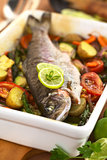 Baked Trout and Vegetables