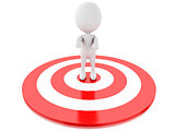 3d white people in red target. success in business