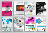 Set of Flyer Design, Infographics Layout, Brochure Designs