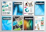 Set of Flyer Design, Infographics Layout, Brochure Designs