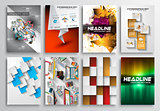Set of Flyer Design, Infgraphics, Brochure Designs