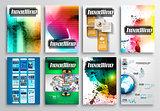 Set of Flyer Design, Infographics. Brochure Designs,