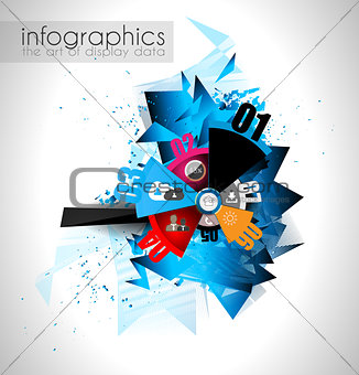 Abstract modern poligonal background for brochure and covers