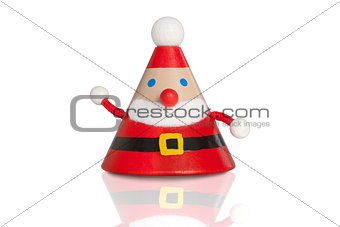 Santa claus figure isolated on white. Christmas
