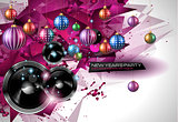New Year's Party Flyer design for nigh clubs