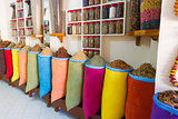 Shop with Spices in Marocco.