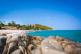 Tropical beach - vacation nature background on Koh Samui, Thailand