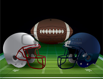 American Football Bowl Game Illustration