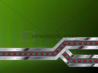 Abstract industrial background design with grunge metallic bar