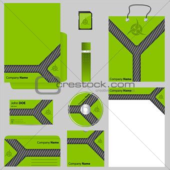 Green business vector set