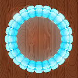 Light Blue Bubble in Round Frame