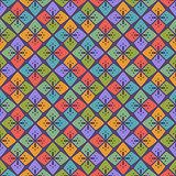 Seamless StylizedFloral Geometric Pattern