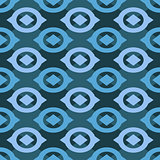 Geometric Seamless Pattern with Round Elements