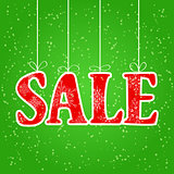 Sale Spelled with Red Christmas Letters Hung by Threads
