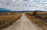 Unpaved Road in Montana, USA
