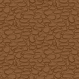 Vector. Seamless stone wall. brown pattern