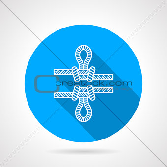 Flat color icon for rope knot