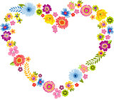 Heart Spring Flower Frame