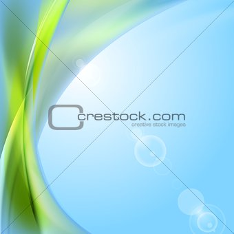Abstract shiny waves vector background