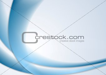 Blue abstract wavy vector background
