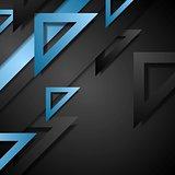 Dark corporate geometric background