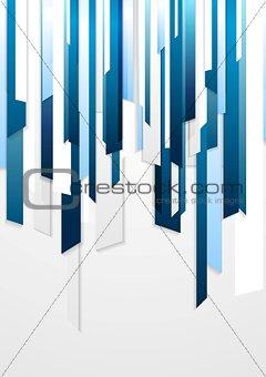 Bright corporate blue striped design