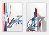 Technical flat flyer design