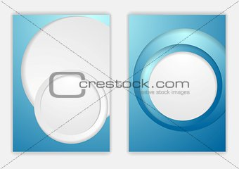 Abstract blue corporate tech flyer design