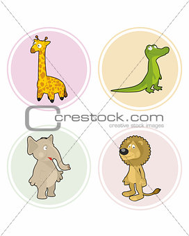 Four animals set