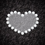 Heart symbol of brilliant diamonds