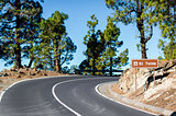 Road to Volcano Teide at Tenerife, Canary Islands. Spain