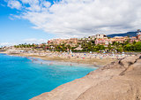 Picturesque El Duque beach in Costa Adeje