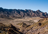 Desert landscape of Volcano Teide National Park