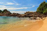 Small beach Ferradurinha sea roc, Buzios, Rio de Janeiro, Brazil