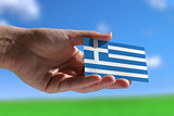 Small Greek flag