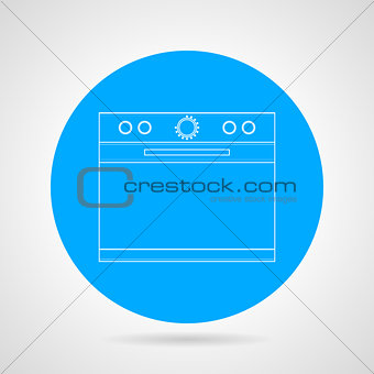 Flat line icon for kitchen stove