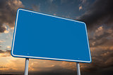Composite image of blue billboard