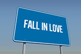 Fall in love against blue sky