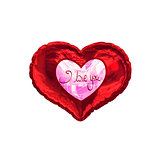 Composite image of valentines love hearts