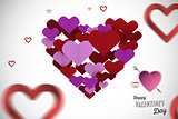 Composite image of cute valentines message
