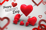 Composite image of happy valentines day