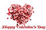 Composite image of valentines confetti