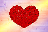 Composite image of red love hearts