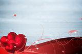 Composite image of valentines heart design