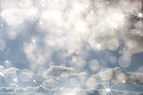 Composite image of shimmering light design on grey
