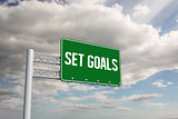 Set goals against sky