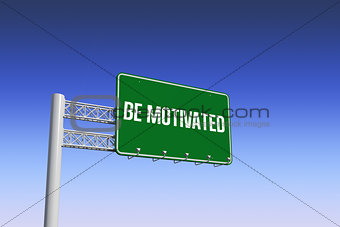 Be motivated against blue and purple sky