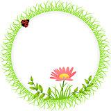 Round Frame Flower Spring