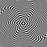Illusion of  rotation movement. Abstract op art illustration.