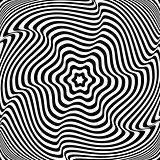 Illusion of  rotation movement. Abstract op art illustration.